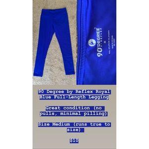 Royal blue active leggings